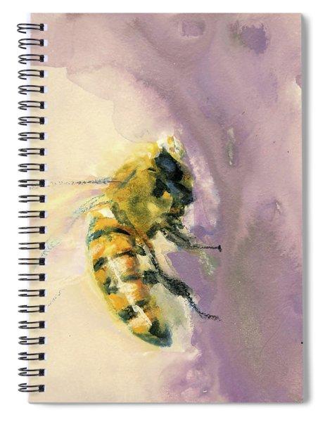 Bee On Lavender Spiral Notebook