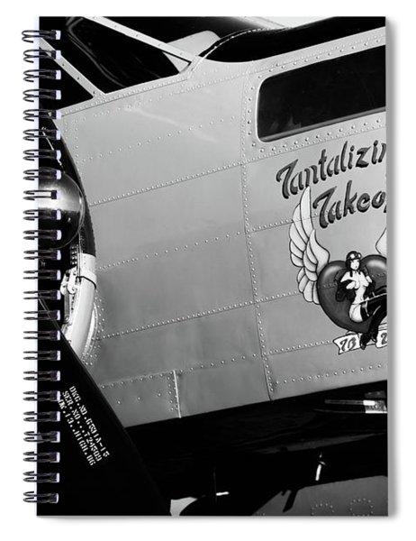 Beech At-11 Bw Spiral Notebook