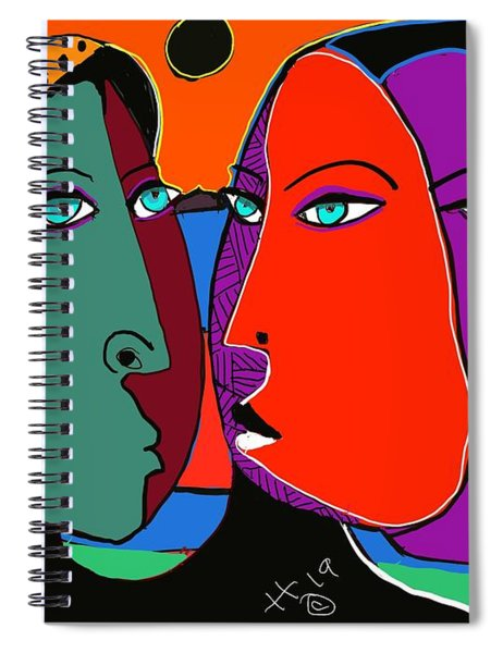 Behind The Face Spiral Notebook