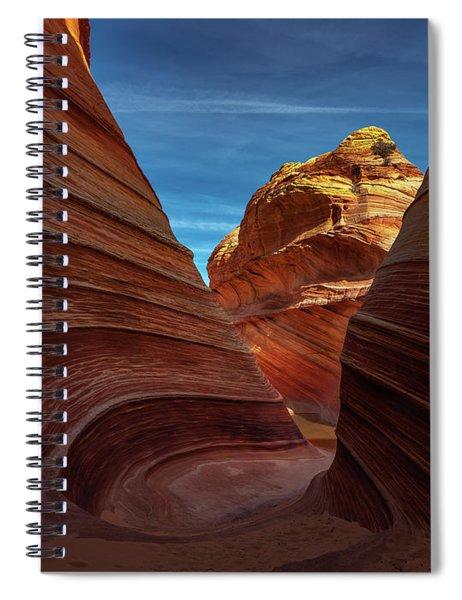 Behind The Wave Spiral Notebook