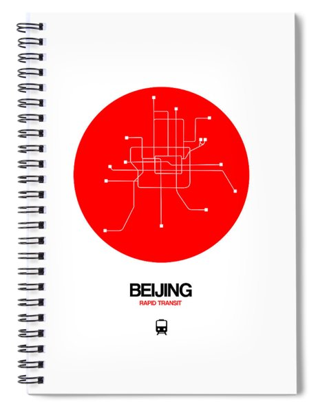 Beijing Red Subway Map Spiral Notebook