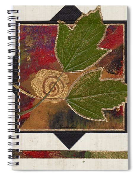 Spiral Notebook featuring the mixed media Being Still by Koka Filipovic