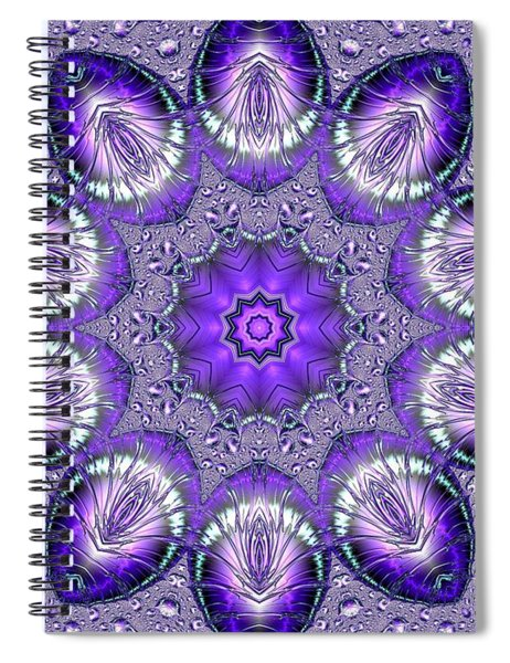 Bejeweled Easter Eggs Fractal Abstract Spiral Notebook by Rose Santuci-Sofranko