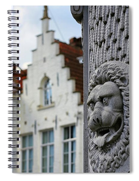 Belgian Coat Of Arms Spiral Notebook by Nathan Bush