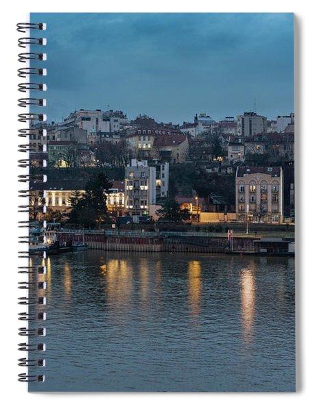 Belgrade Skyline And Sava River Spiral Notebook