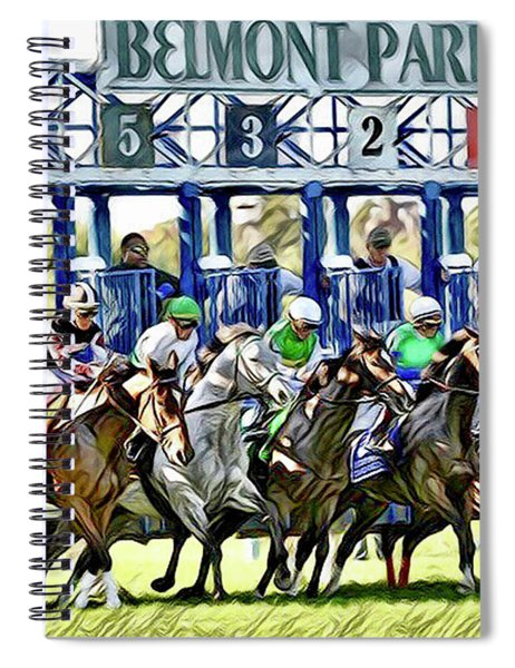 Belmont Park Starting Gate 1 Spiral Notebook