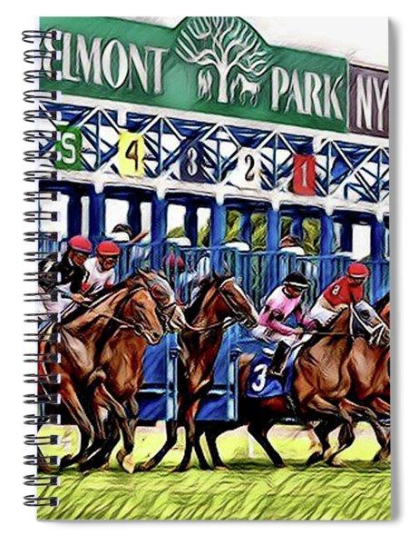 Belmont Park Starting Gate 2 Spiral Notebook