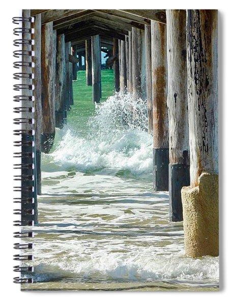 Below The Pier Spiral Notebook