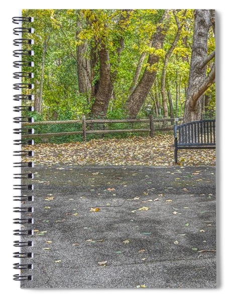 Bench @ Sharon Woods Spiral Notebook