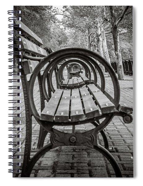 Bench Circles Spiral Notebook