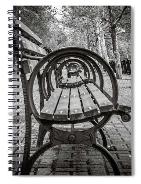 Bench Circles Spiral Notebook