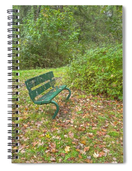 Bench Overlooking Pine Quarry Spiral Notebook