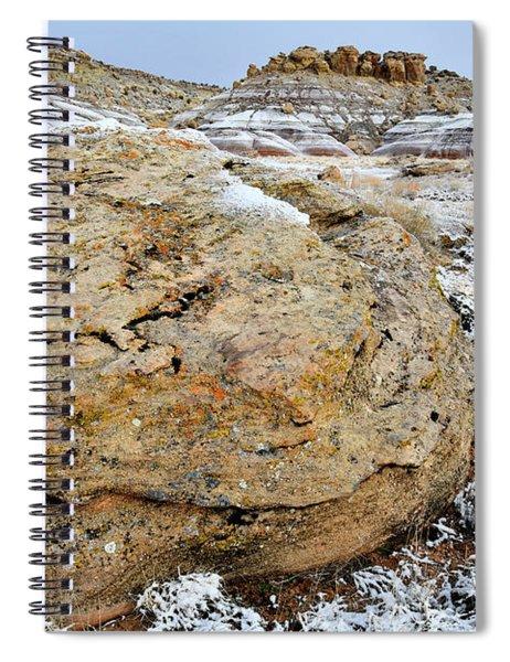 Bentonite Dunes Near Ruby Mountain Spiral Notebook