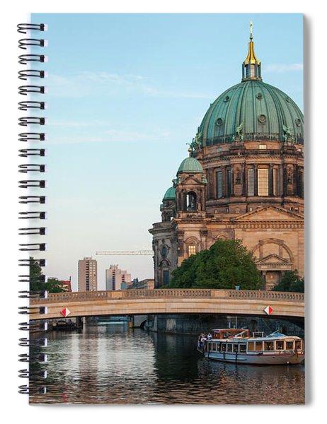 Berliner Dom And River Spree In Berlin Spiral Notebook