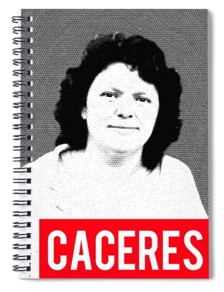 Berta Caceres Spiral Notebook by MB Dallocchio