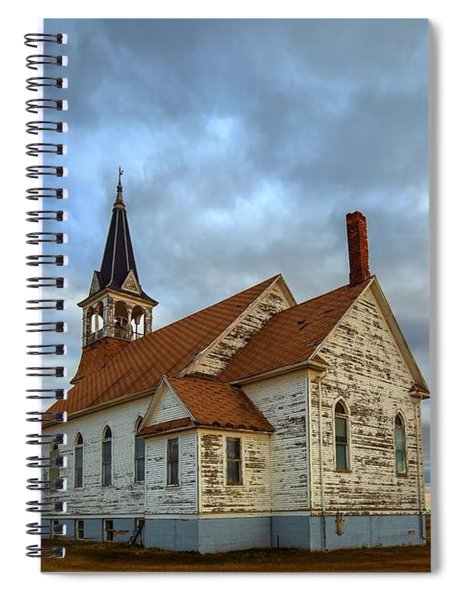 Bethel Scandinavian Lutheran Church At Sunset Spiral Notebook