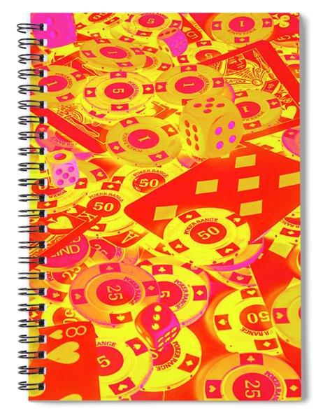 Betting Background Spiral Notebook
