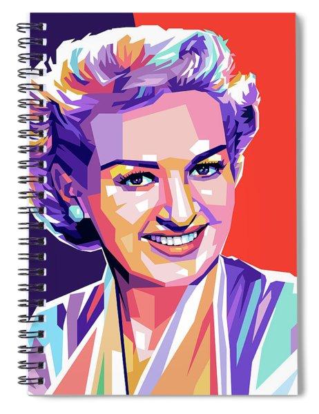 Betty Grable Pop Art Spiral Notebook