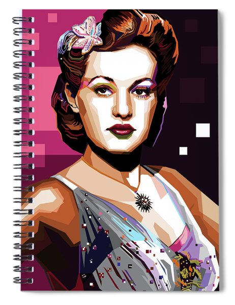 Betty Grable Spiral Notebook