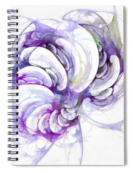 Beyond Abstraction Purple Spiral Notebook