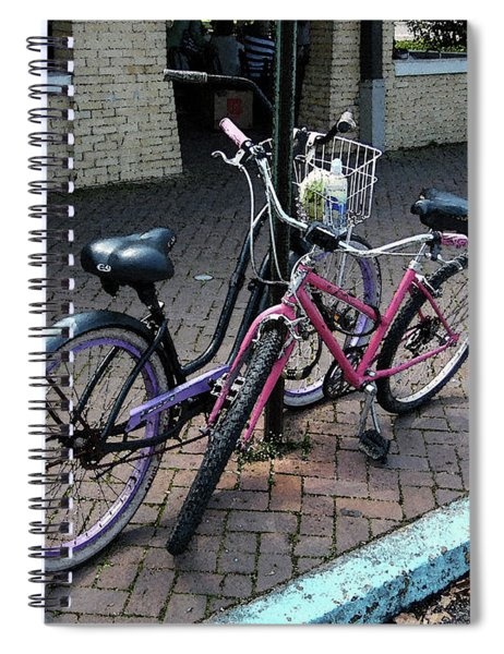 Bicycles City Park New Orleans Spiral Notebook