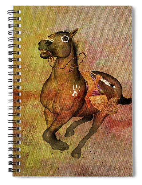 Bid For Freedom Spiral Notebook by Valerie Anne Kelly