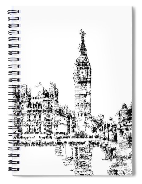 Spiral Notebook featuring the digital art Big Ben by ISAW Company