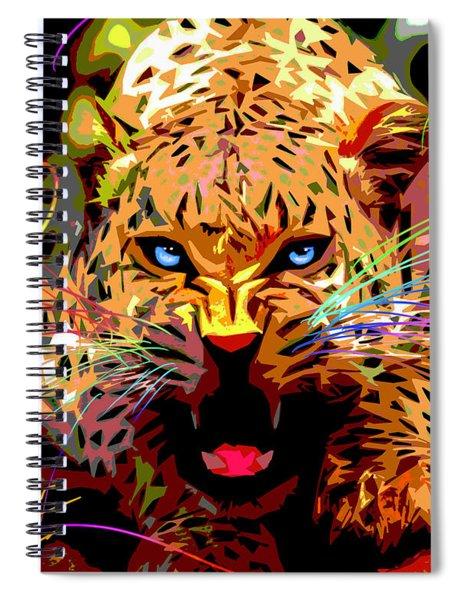 Big Cat Leopard Pop Cat Spiral Notebook
