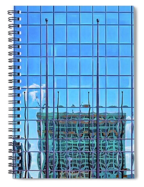 Big City Abstract Spiral Notebook