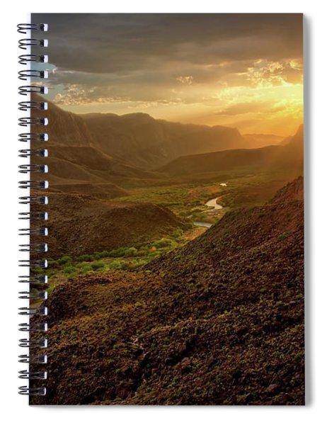 Big Hill Sunset  Spiral Notebook