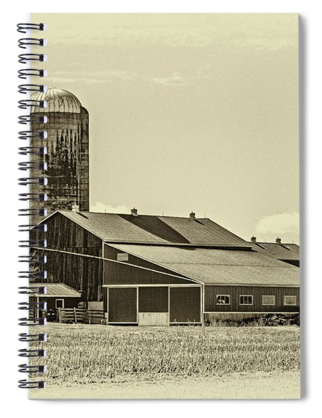 Big Red Barn 3 Sepia Spiral Notebook