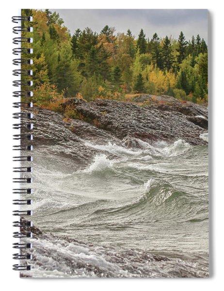 Big Waves In Autumn Spiral Notebook