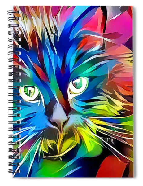 Big Whiskers Cat Spiral Notebook