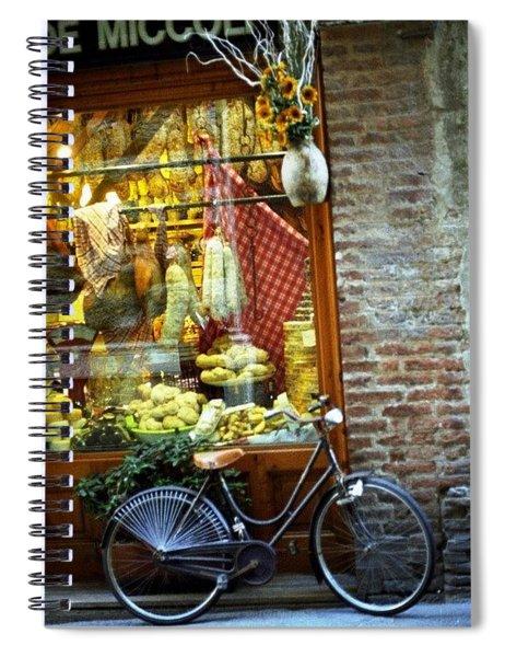 Bike In Sienna Spiral Notebook