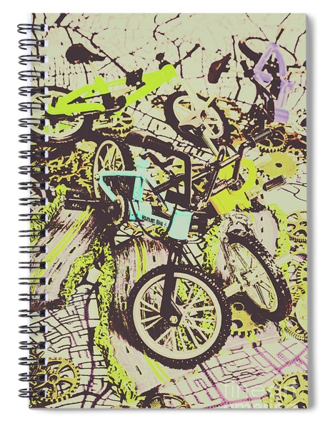 Bikes And City Routes Spiral Notebook