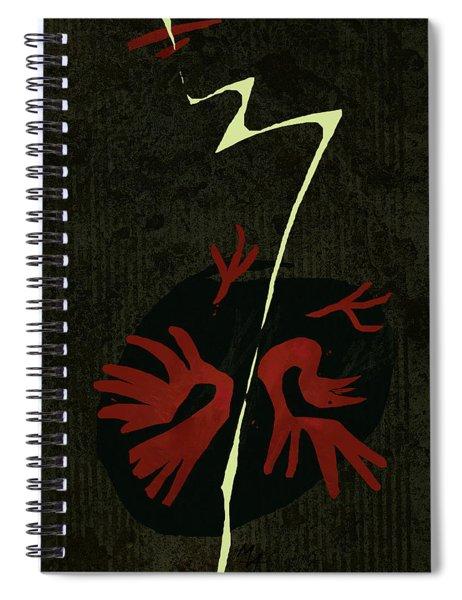 Bird And Lightning Spiral Notebook