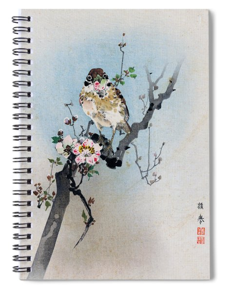 Bird And Petal Spiral Notebook