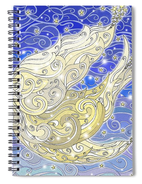 Bird Generating Stars Spiral Notebook