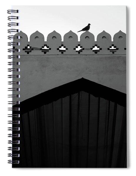Birds And Patterned Side Rail Shot 1 Spiral Notebook