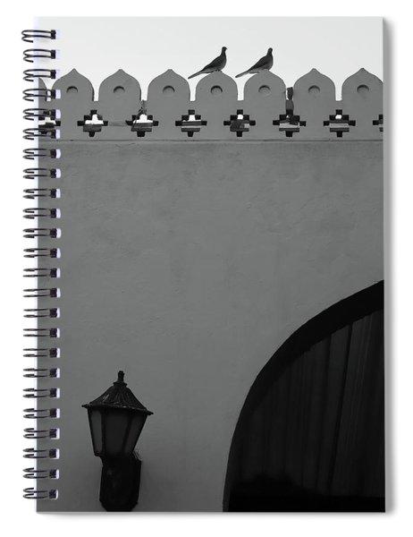 Birds And Patterned Side Rail Shot 2 Spiral Notebook