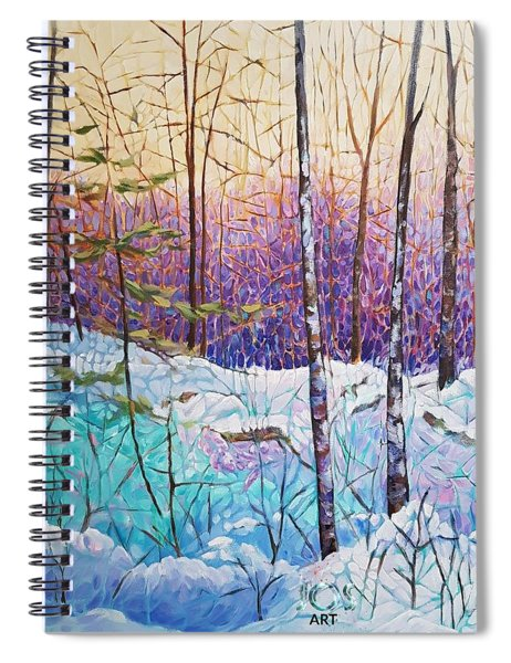 Birds Hill Trail Winter Walk Spiral Notebook
