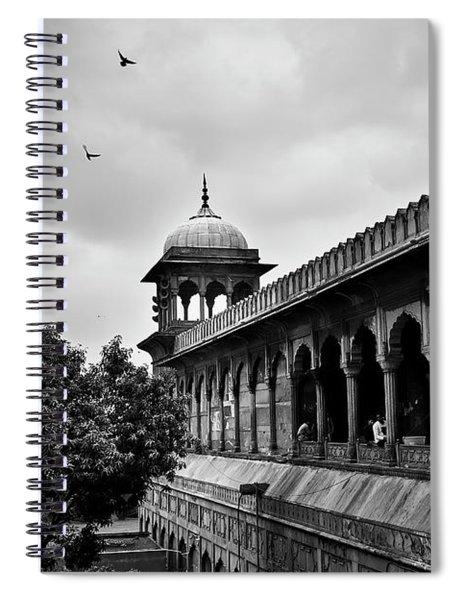 Birds Over The Jama Masjid Spiral Notebook