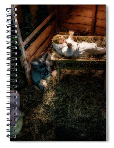 Birth Of Jesus Christ Spiral Notebook