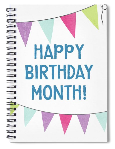 Birthday Month Flags- Art By Linda Woods Spiral Notebook