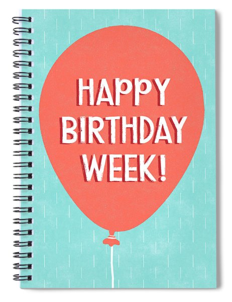 Birthday Week Red Balloon- Art By Linda Woods Spiral Notebook