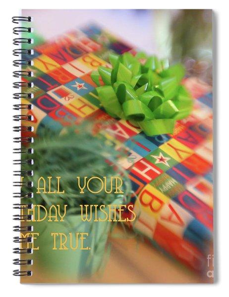 Birthday Wishes Spiral Notebook