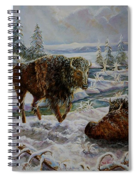 Bison In Yellowstone In The Winter Spiral Notebook
