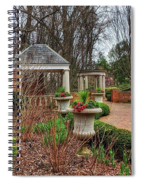 Bits Of Green Spiral Notebook