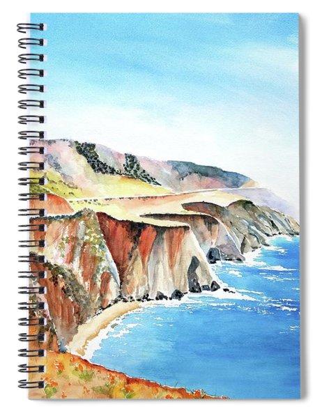 Bixby Bridge 3 Big Sur California Coast Spiral Notebook