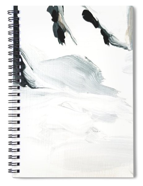 Black And White #2 Spiral Notebook by Maria Langgle